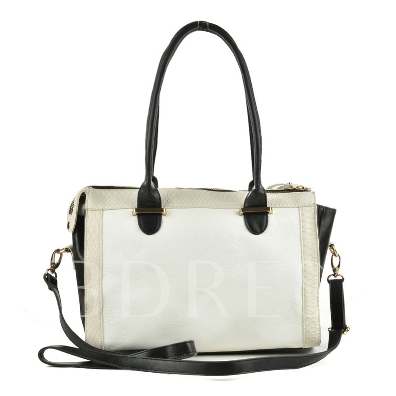 Occident Style zipper Tote Bag