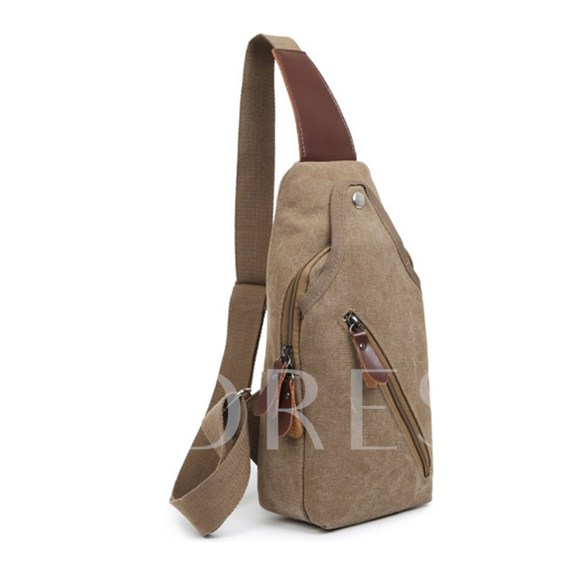 Casual Color Block Nylon Men's Bag