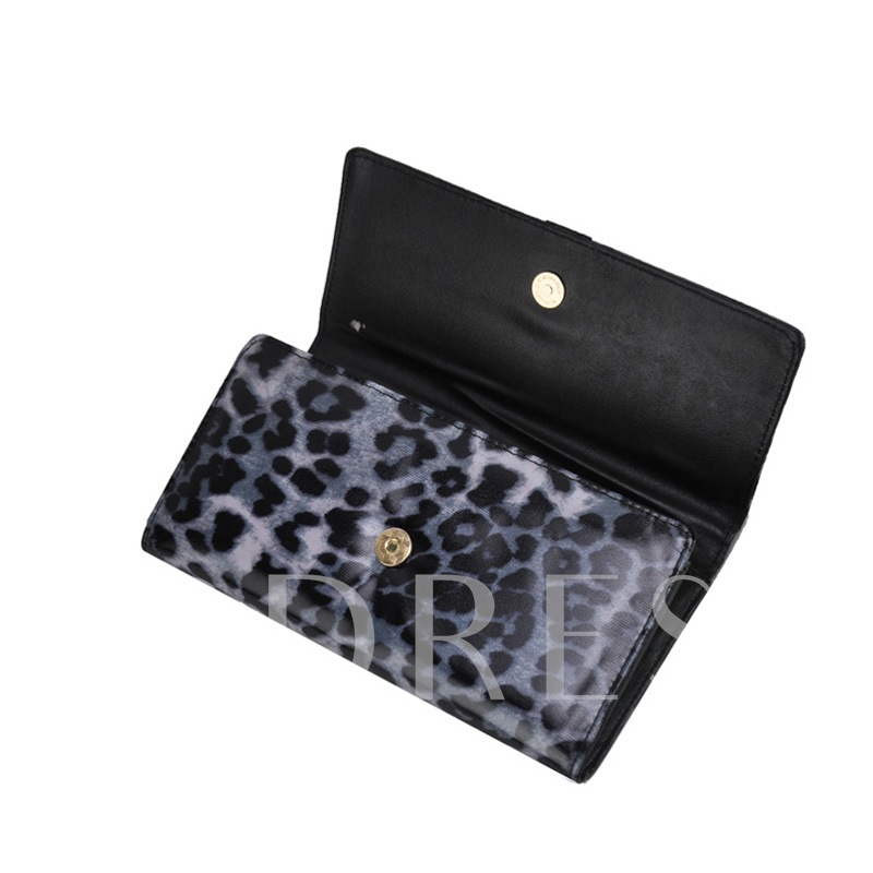 Polka Dots Color Block Wallet