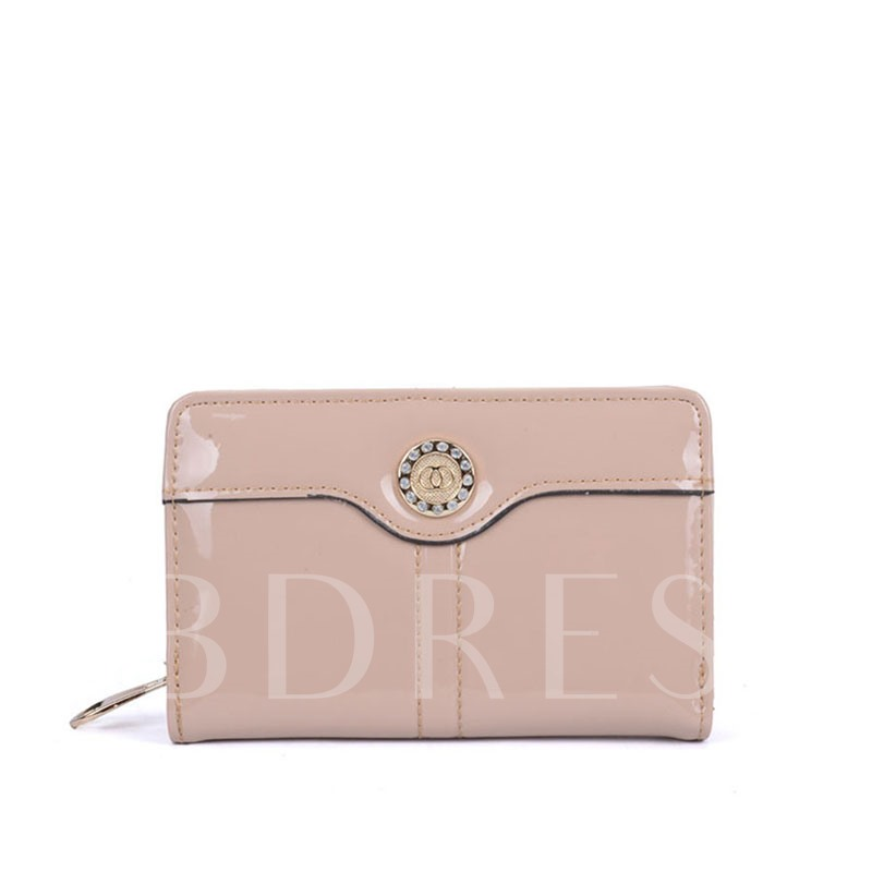 Glossy Candy Color Women Wallet