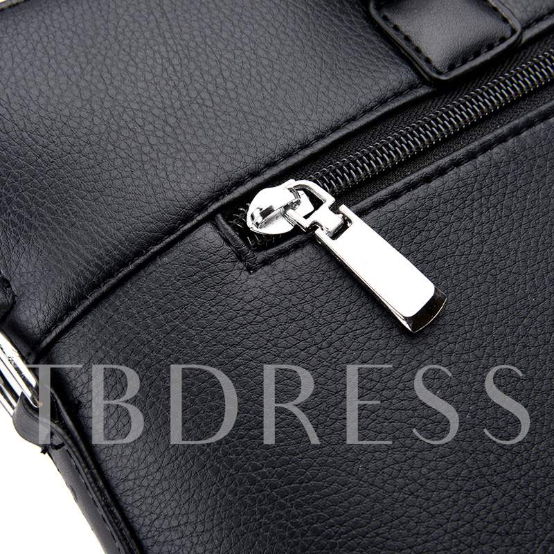 Business Style PU Men's Backpack