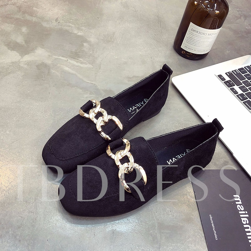 Metallic Decoration Flat Comfort Boat Shoes for Women