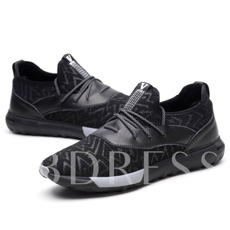 Stripe Round Lace Up Men's Working Shoes
