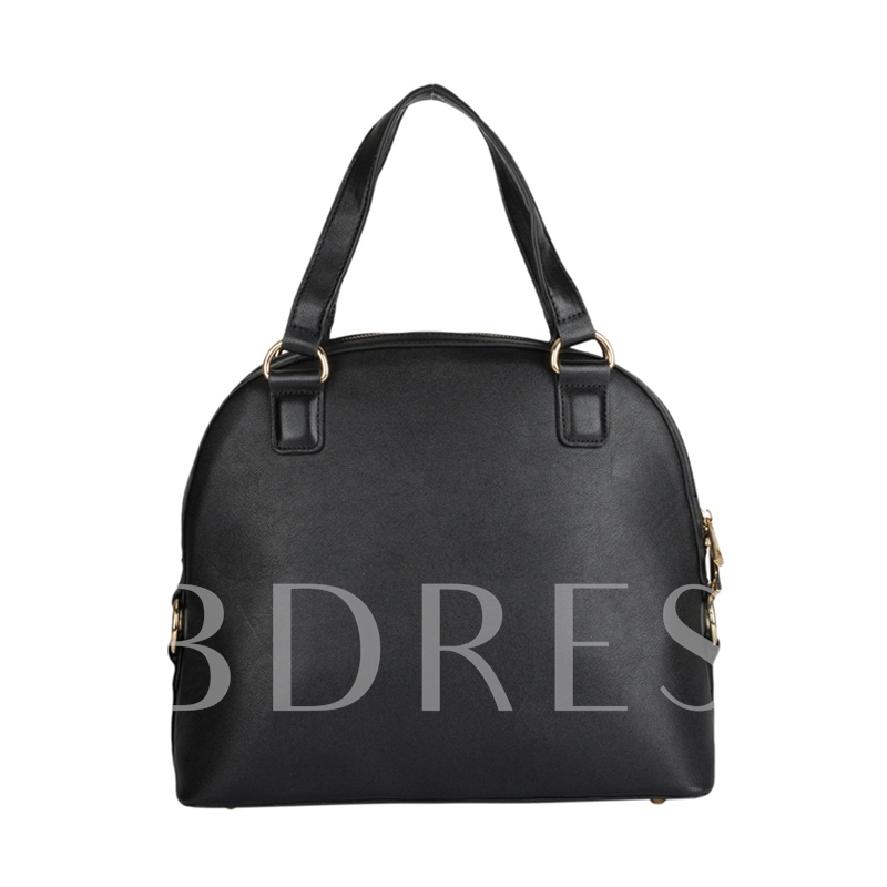 Trendy Solid Color Women Tote Bag