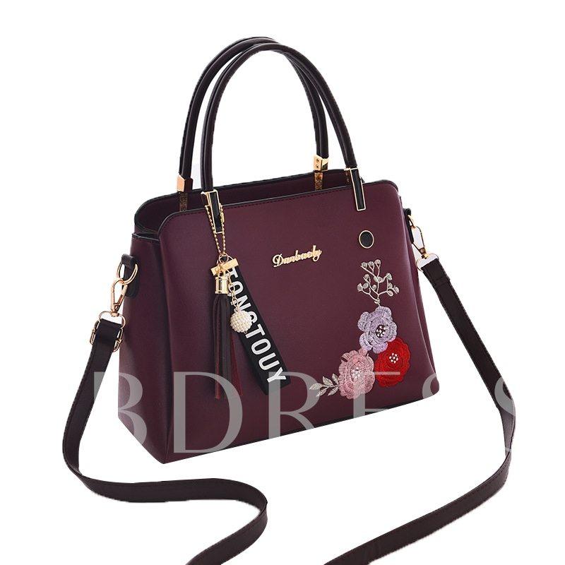 Chinese Style PU Embroidery Tote Bag