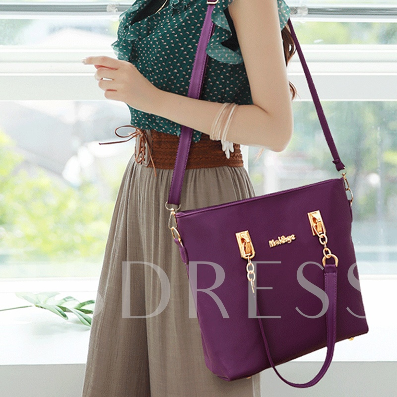 Fashion Thread Plain PU Bag Sets