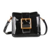 Distinctive Belt Decorated Women Cross Body Bag