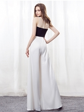 Bowknot Scoop A-Line Evening Jumpsuits