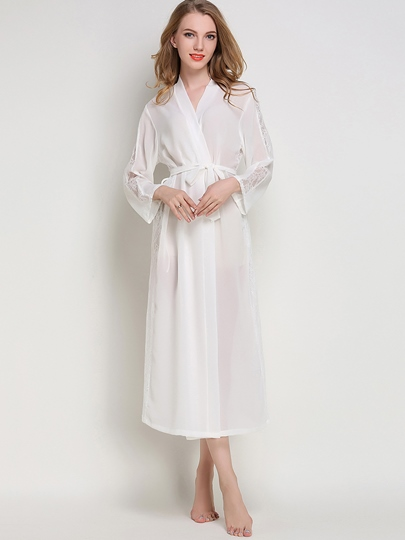 Robe See-Through Long Sexy Night Dress