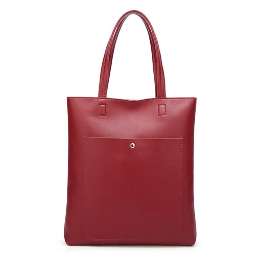 Modern Style Solid Color Magnetic Snap Shoulder Bag