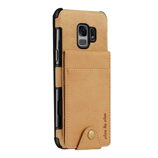 2018 New Samsung S9 Plus Linen Pattern Up/Down PU Protection Shell