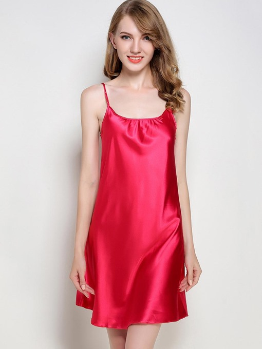 Scoop Simple Spaghetti Strap Summer Women's Nightgown