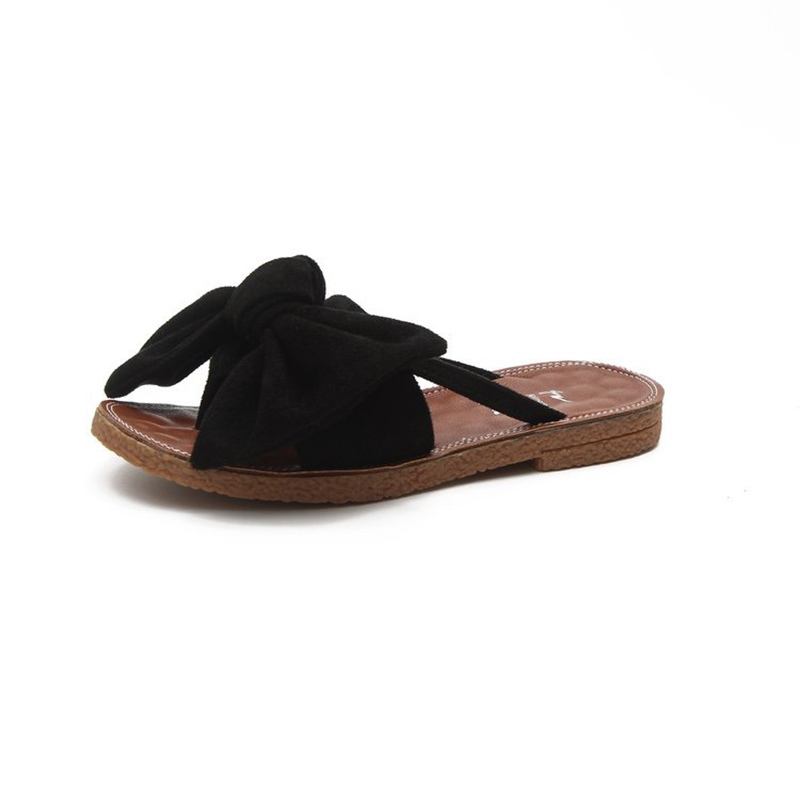 Buy Plain Big Bow Thong Flat Sandals for Women, Spring,Summer, 13222326 for $16.99 in TBDress store