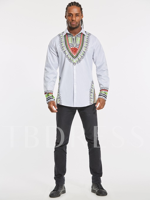 Dashiki Lapel African Ethnic Print Luxury Men's Shirt