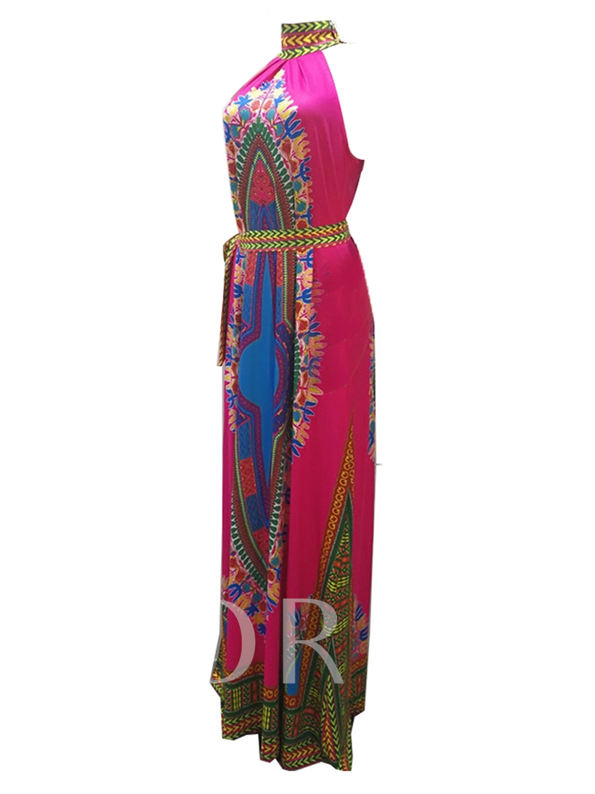 Printing Sleeveless Women's Maxi Dress