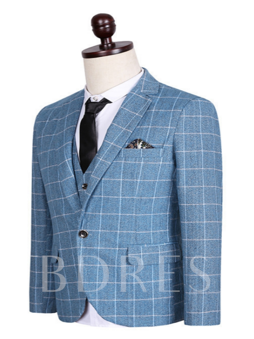 Men's Suits with Large Check