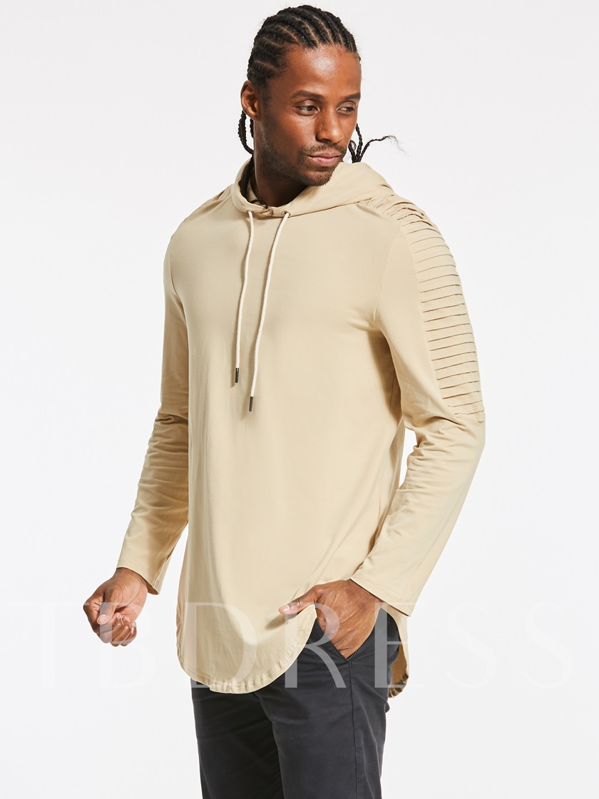 Hooded Solid Color Slim Fit Men's Casual Hoodie