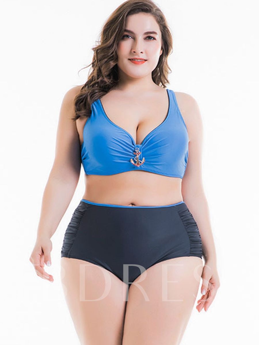 Adjustable Strap High Waisted Swimsuit Plus Size Bikini Set