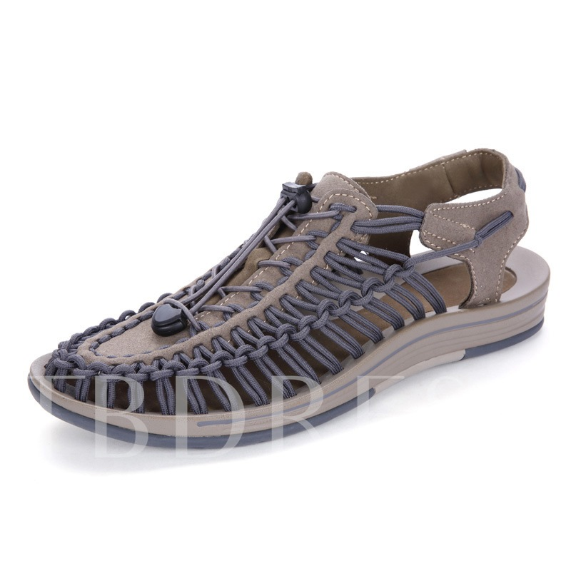 Weave Hollow Shoes Men's Summer Chic Sandals(Plus Size)