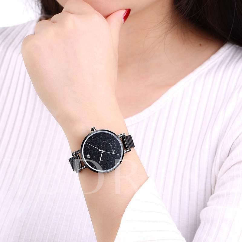 Rhinestone Quartz Analogue Display Watches