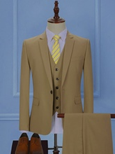 Notched Collar One Button Solid Color Slim Fit Casual Men's Dress Suit