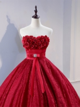 Sweetheart 3D Flowers Lace Quinceanera Dress
