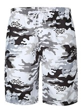 Lace-up Camouflage Slim Fit Herren Badeshorts