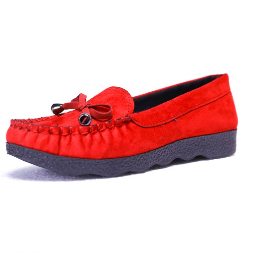 Bow Sewing Plain Women's Flats Boat Shoes