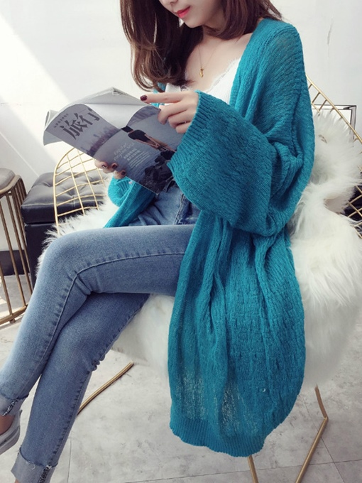 Vintage Loose Puff Sleeve Women's Thin Knitwear