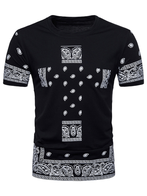 Ethnic Thin Slim Fit Men's T-Shirt