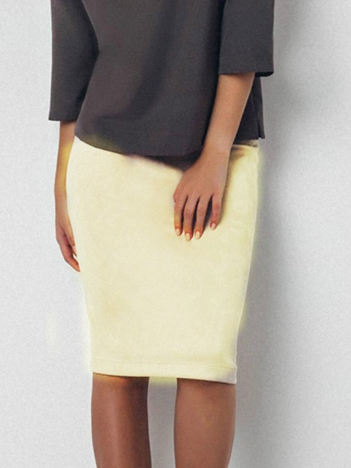 Plain Solid Color Women's Package Hip Skirt