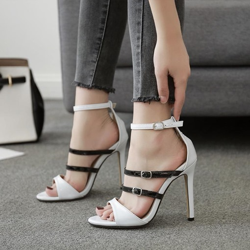 Line Buckle Heel Covering Women's Classic Sandals
