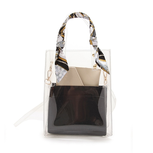 Modern Style Silk Scarves Decoration Tote Bag