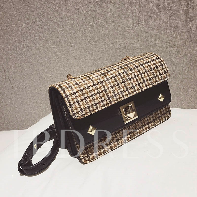 Fashion Plaid Small Cross Body Bag