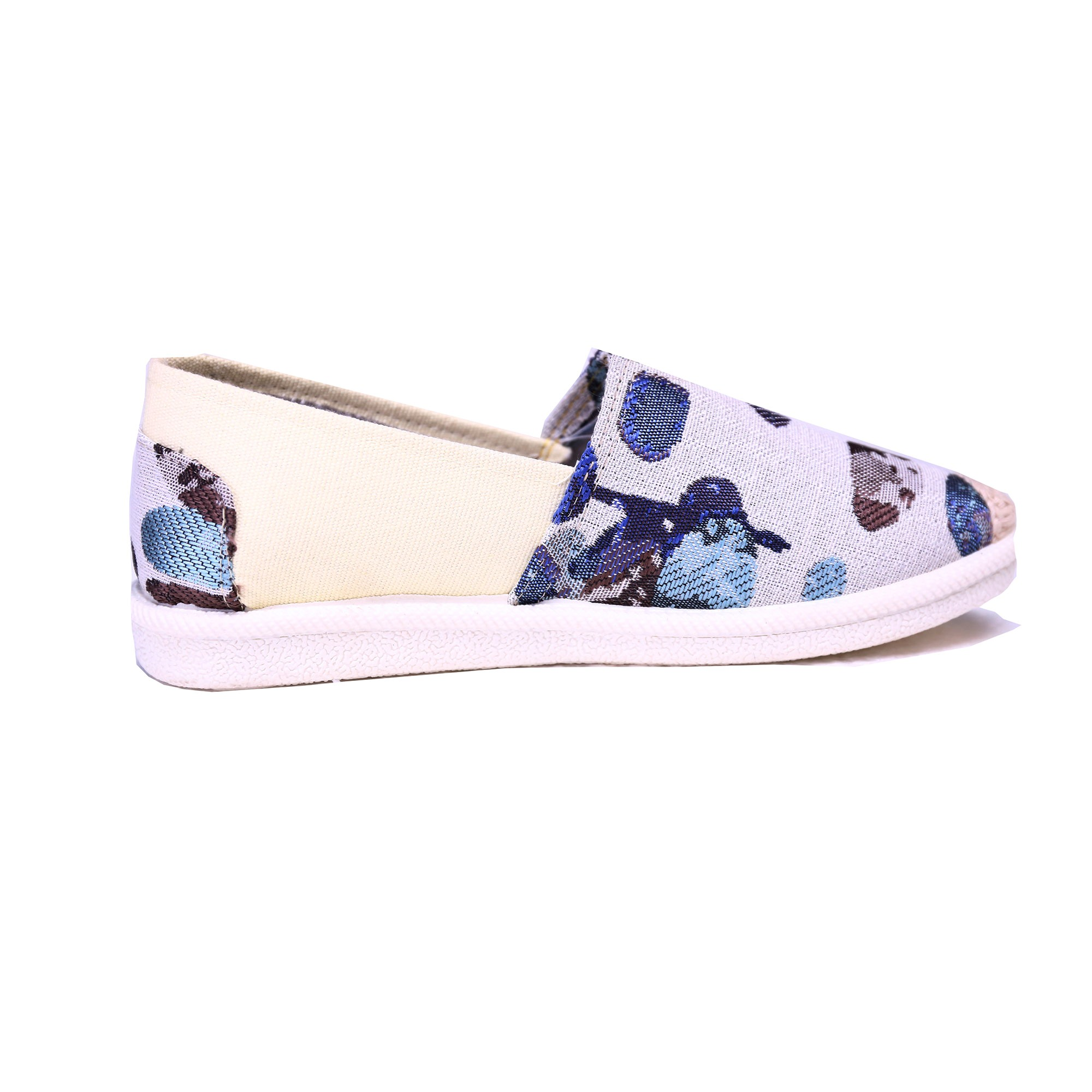 Color Block Cloth Flat With Shoes for Women