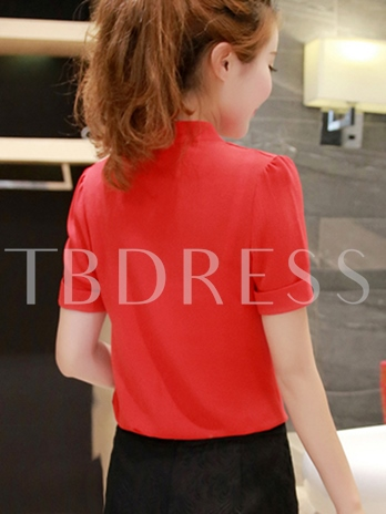 V-Neck Chiffon Women's Blouse For Office