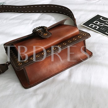 Retro Magnetic Snap Small Cross Body Bag