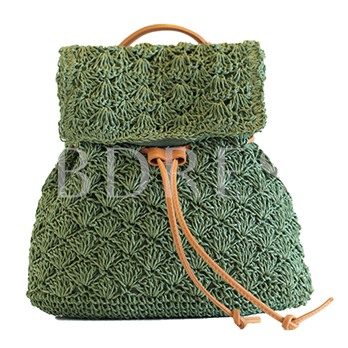 Casual Grass Plain Backpack