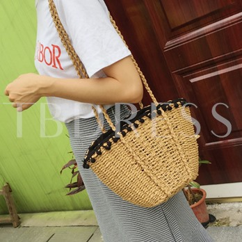 Casual Knitted String Straw Bag
