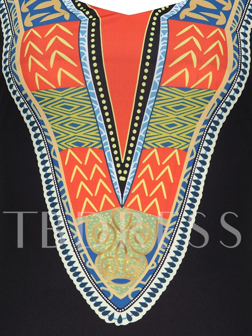 African Print Dashiki Sleeveless Women's Bodycon Dress