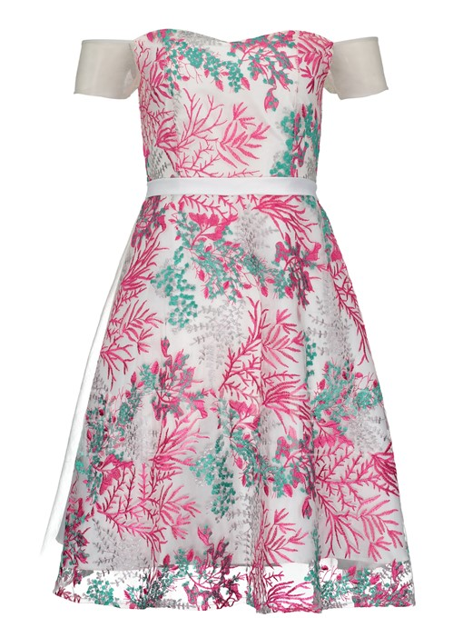 Off Shlouder A-Line Printing Women's Day Dress