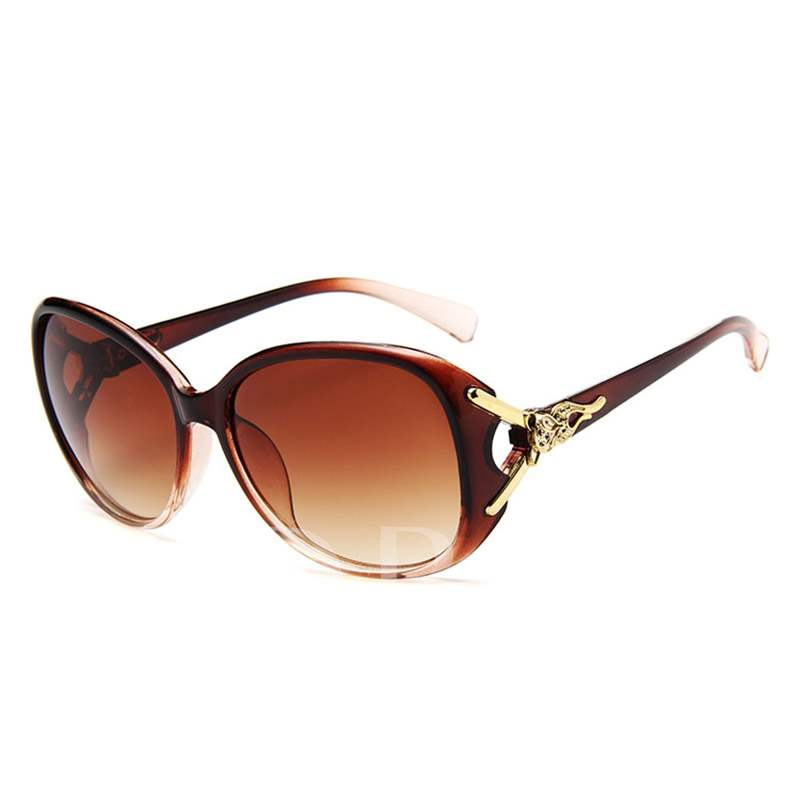 Resin Oval Polarized Sunglasses