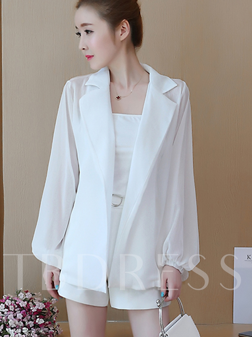 Lantern Sleeve Lace-Up Women's Lightweight Trench Coat