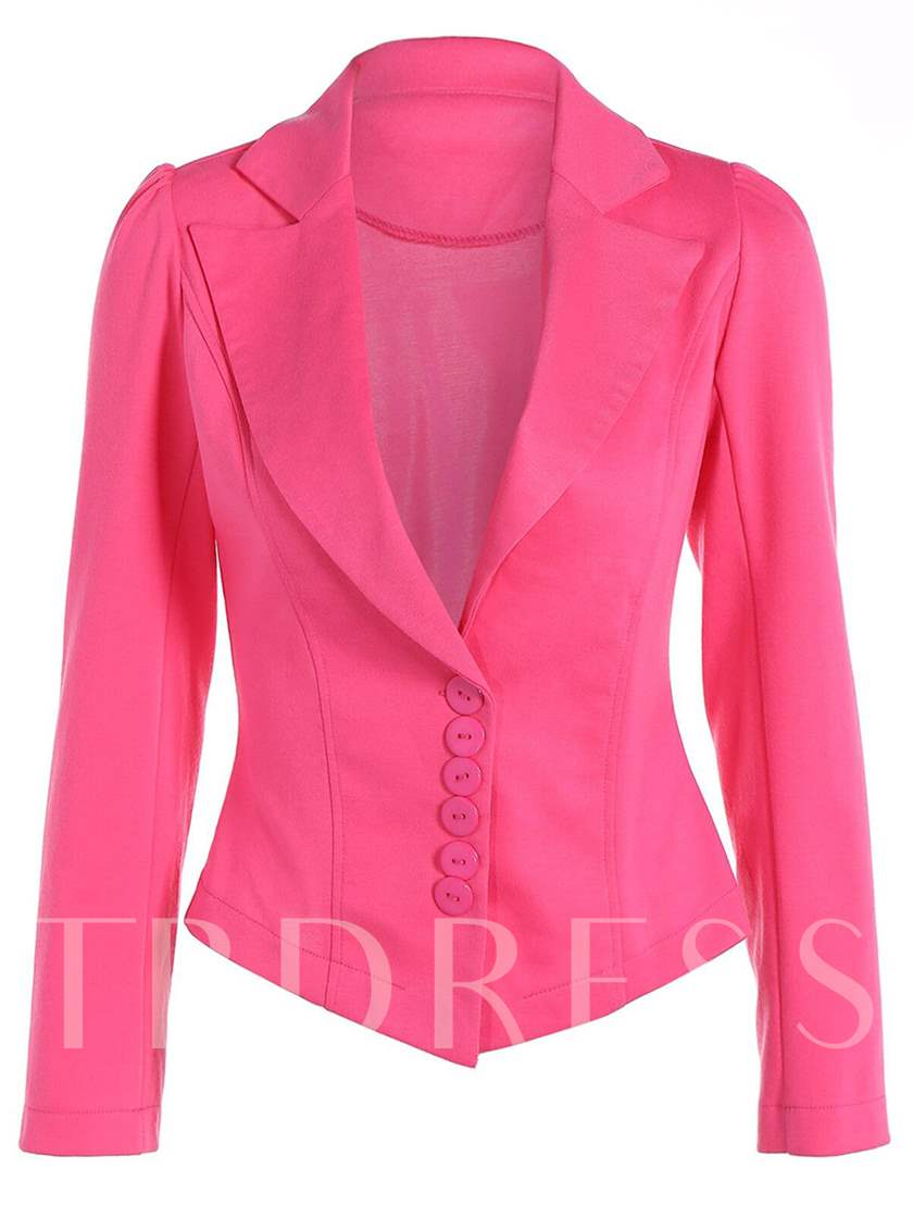 Slimming Notched Lapel Women's Casual Blazers