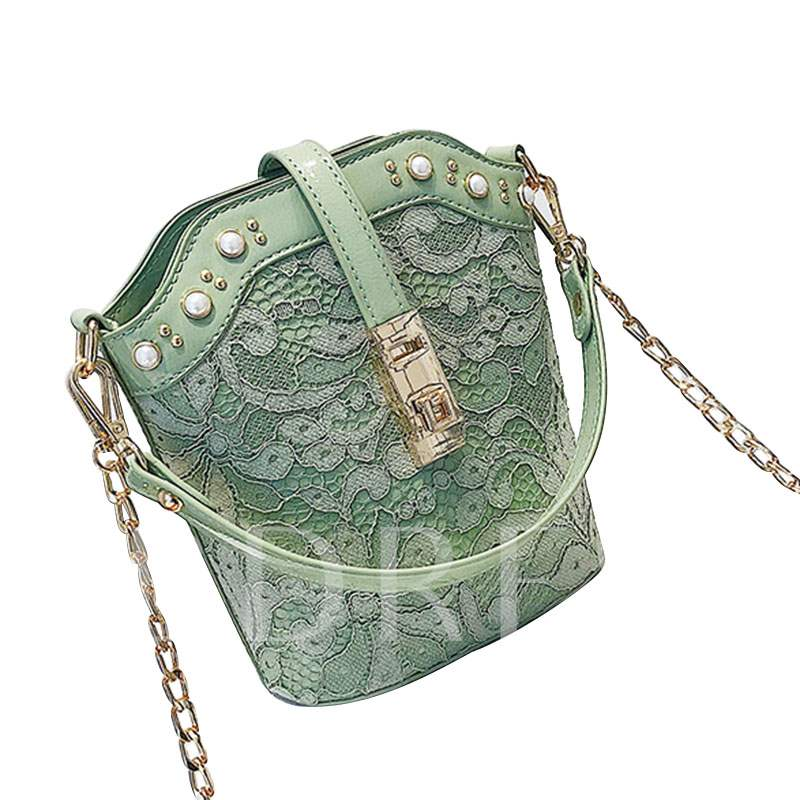 Fashion Chain Barrel-Shaped Cross Body Bag