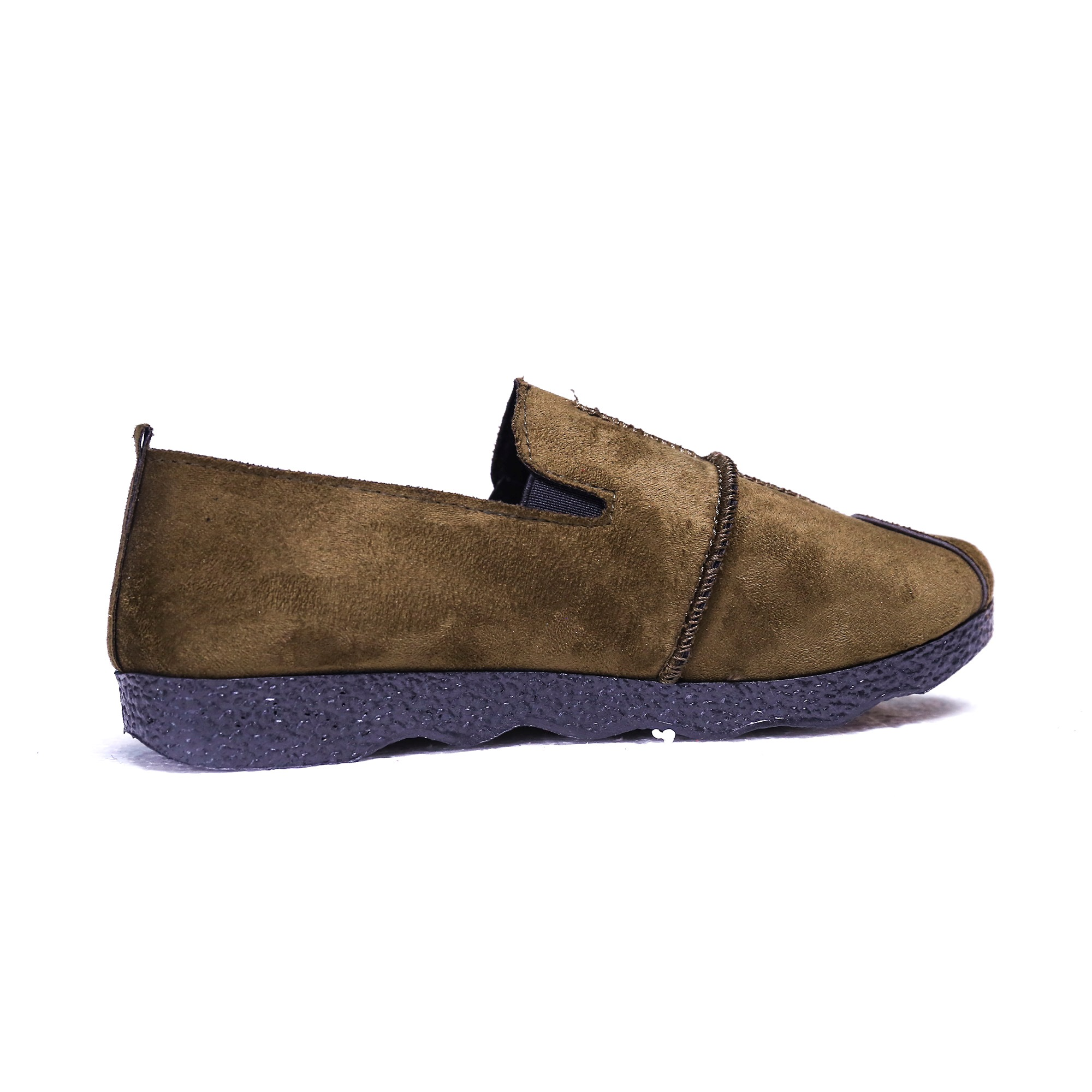 Suede Sewing Plain Flats Shoes for Women