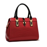Crocodile Grain PU Women Tote Bag