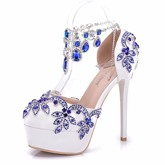 Platform High With Shoes Rhinestone Women's Wedding Heels
