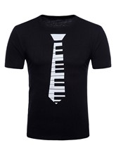 Print Plain Slim Men's T-Shirt