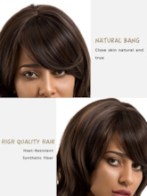 Curly Women Synthetic Hair Capless Wigs 20 Inches